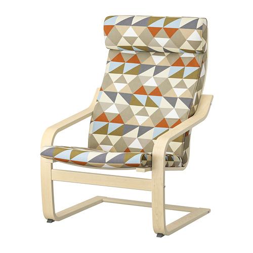 POÄNG - armchair, birch veneer/Rockneby multicolour   IKEA Hong Kong and Macau - PE800045_S4