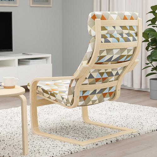 POÄNG - armchair, birch veneer/Rockneby multicolour   IKEA Hong Kong and Macau - PE800047_S4