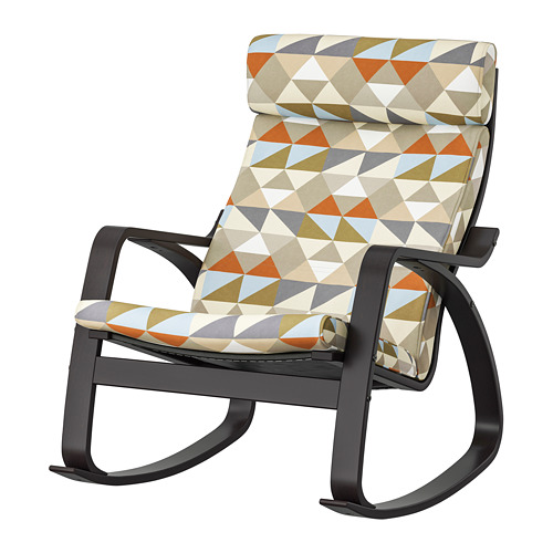 POÄNG - rocking-chair, black-brown/Rockneby multicolour | IKEA Hong Kong and Macau - PE800052_S4