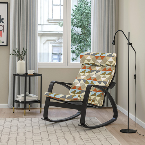 POÄNG - rocking-chair, black-brown/Rockneby multicolour | IKEA Hong Kong and Macau - PE800053_S4
