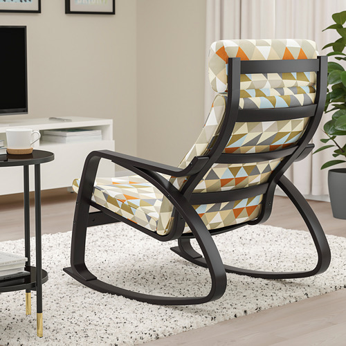 POÄNG - rocking-chair, black-brown/Rockneby multicolour | IKEA Hong Kong and Macau - PE800054_S4