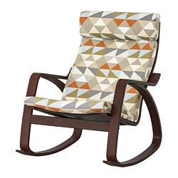 POÄNG - rocking-chair, brown/Rockneby multicolour | IKEA Hong Kong and Macau - PE800055_S3