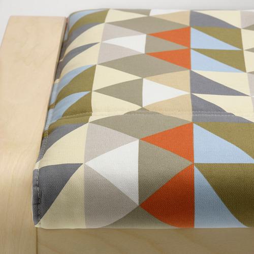 POÄNG - footstool, birch veneer/Rockneby multicolour | IKEA Hong Kong and Macau - PE800061_S4