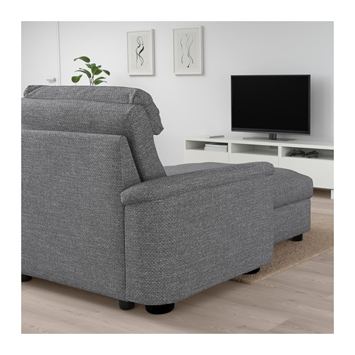 LIDHULT - 四座位梳化, 連躺椅/Lejde 灰色/黑色 | IKEA 香港及澳門 - PE705908_S4
