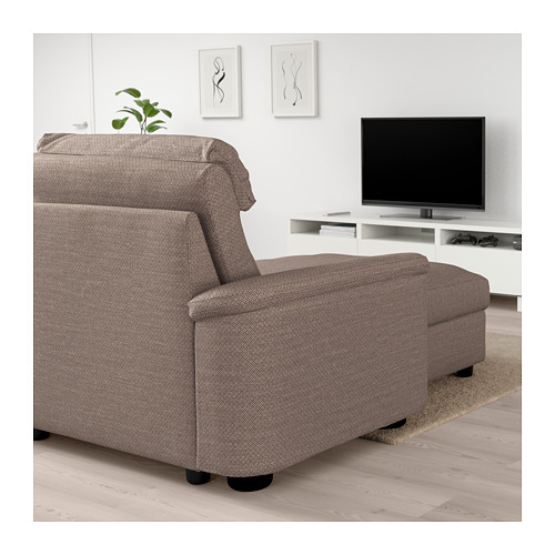 LIDHULT - 4-seat sofa, with chaise longue/Lejde beige/brown | IKEA Hong Kong and Macau - PE705912_S4