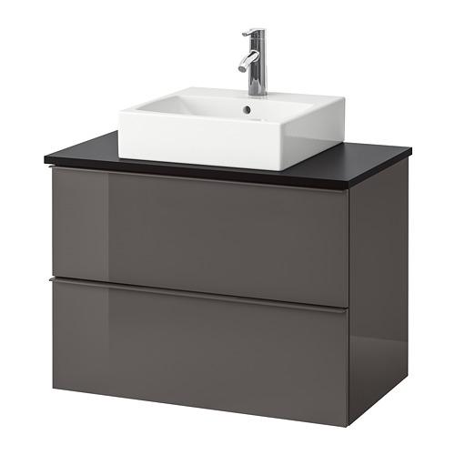GODMORGON/TOLKEN/TÖRNVIKEN 洗手盆櫃連櫃台板/45x45cm洗手盆