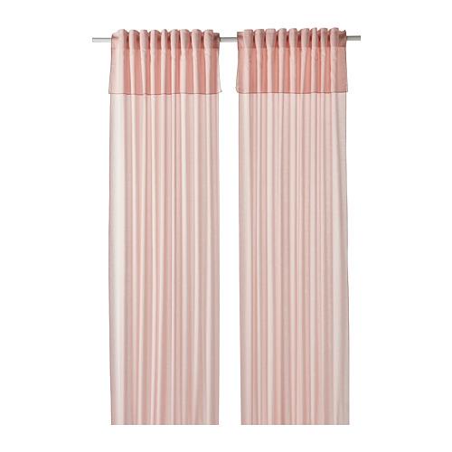 MOALISA - curtains, 1 pair, pale pink/pink | IKEA Hong Kong and Macau - PE801217_S4