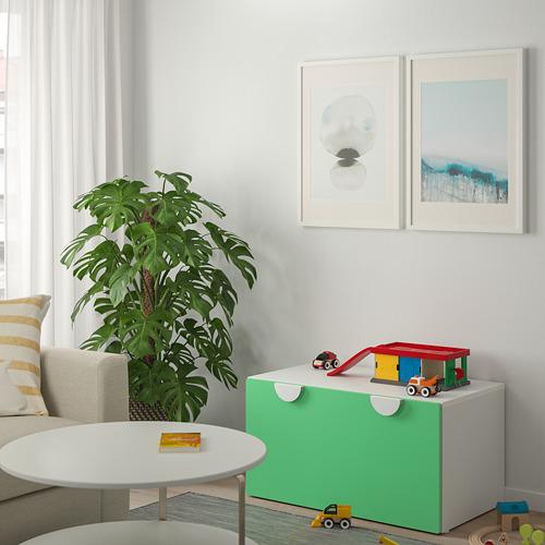 SMÅSTAD - 貯物式長几, 白色/綠色 | IKEA 香港及澳門 - PE800139_S4