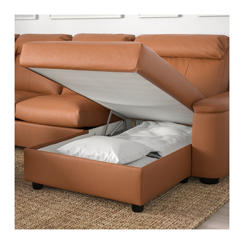 LIDHULT - corner sofa, 6-seat, with chaise longue/Grann/Bomstad golden-brown   IKEA Hong Kong and Macau - PE706049_S4