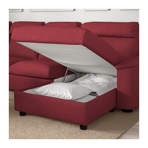 LIDHULT - corner sofa, 6-seat, with chaise longue/Lejde red-brown | IKEA Hong Kong and Macau - PE706089_S4
