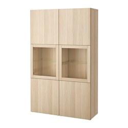 BESTÅ - 玻璃門貯物組合, Lappviken/Sindvik 染白橡木紋/透明玻璃 | IKEA 香港及澳門 - PE535124_S3