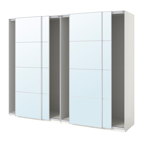 PAX - wardrobe with sliding doors, white/Auli mirror glass | IKEA Hong Kong and Macau - PE706113_S4