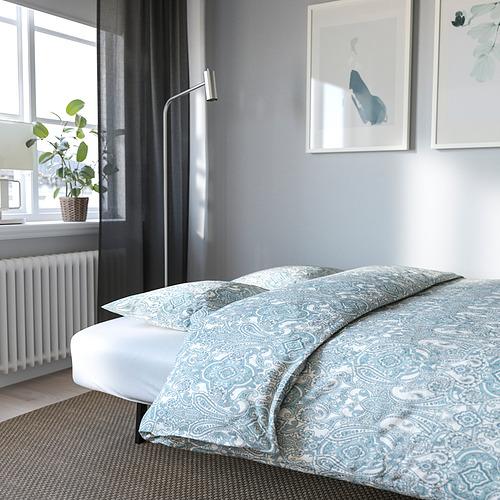 NYHAMN - 3-seat sofa-bed, with foam mattress/Skiftebo blue | IKEA Hong Kong and Macau - PE800324_S4