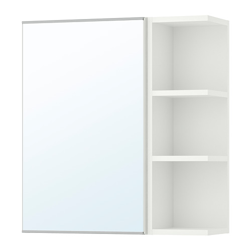 LILLÅNGEN - mirror cabinet 1 door/1 end unit, white | IKEA Hong Kong and Macau - PE706177_S4