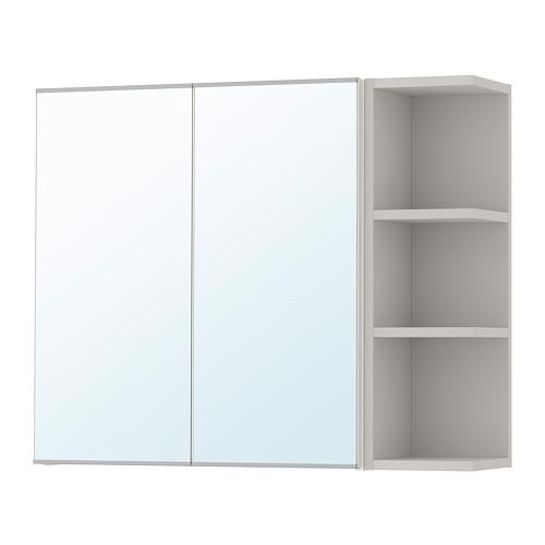 LILLÅNGEN - 雙門鏡櫃連1邊櫃, 白色/灰色 | IKEA 香港及澳門 - PE706178_S4