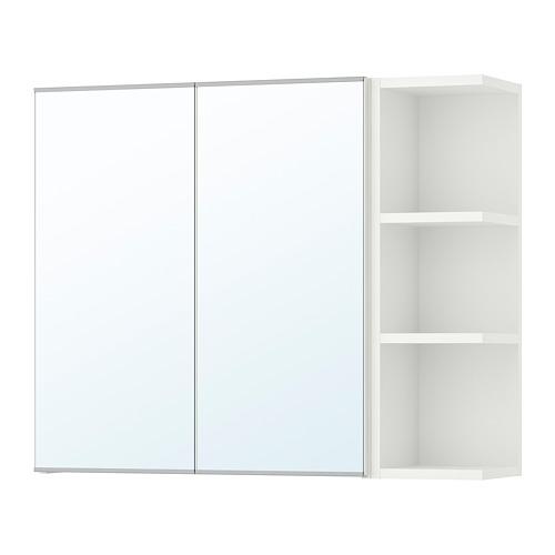 LILLÅNGEN - 雙門鏡櫃連1邊櫃, 白色 | IKEA 香港及澳門 - PE706179_S4