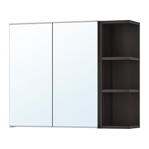 LILLÅNGEN - mirror cabinet 2 doors/1 end unit, black-brown | IKEA Hong Kong and Macau - PE706187_S4