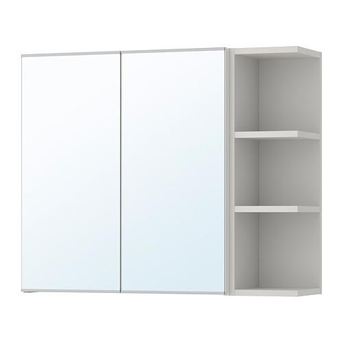 LILLÅNGEN - mirror cabinet 2 doors/1 end unit, black-brown/grey | IKEA Hong Kong and Macau - PE706184_S4