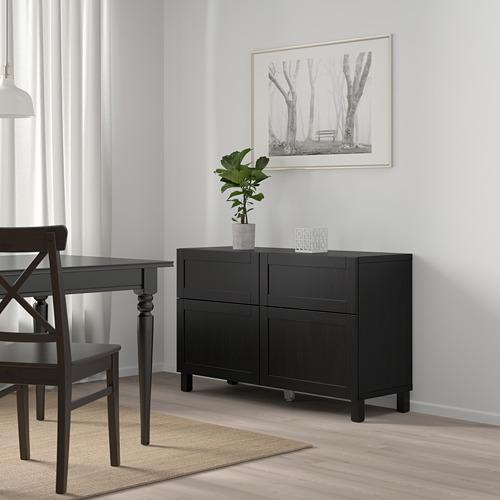 BESTÅ - 貯物組合連門/抽屜, black-brown/Hanviken/Stubbarp black-brown | IKEA 香港及澳門 - PE746746_S4