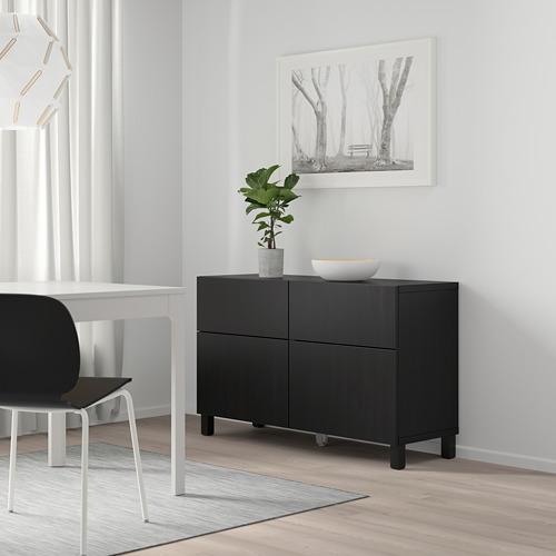 BESTÅ - 貯物組合連門/抽屜, black-brown/Lappviken/Stubbarp black-brown | IKEA 香港及澳門 - PE746741_S4