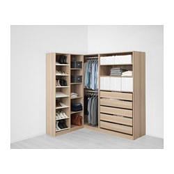 PAX - corner wardrobe, white stained oak effect | IKEA Hong Kong and Macau - PE658239_S3