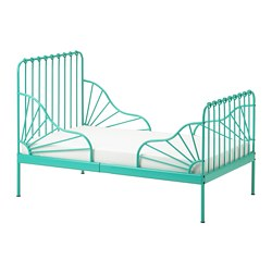 MINNEN - ext bed frame with slatted bed base, turquoise | IKEA Hong Kong and Macau - PE746825_S3