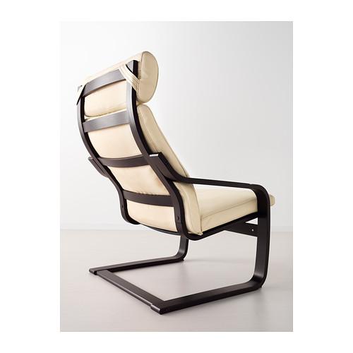 POÄNG - armchair, black-brown/Glose eggshell | IKEA Hong Kong and Macau - PE389395_S4