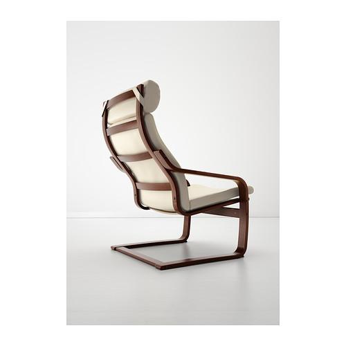 POÄNG - 扶手椅, 褐色/Glose 奶白色 | IKEA 香港及澳門 - PE389397_S4