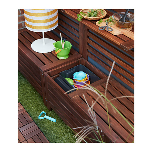 ÄPPLARÖ - storage bench, outdoor, brown stained | IKEA Hong Kong and Macau - PH156313_S4