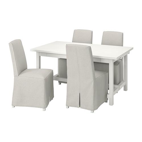 BERGMUND/NORDVIKEN - table and 4 chairs, white/Kolboda beige/dark grey | IKEA Hong Kong and Macau - PE800718_S4