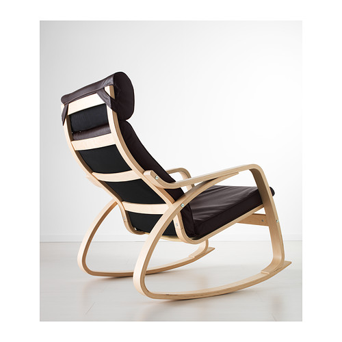 POÄNG - rocking-chair, birch veneer/Glose dark brown | IKEA Hong Kong and Macau - PE389559_S4