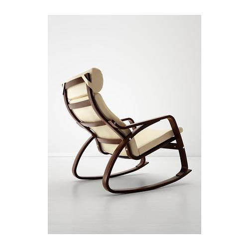 POÄNG - rocking-chair, brown/Glose eggshell | IKEA Hong Kong and Macau - PE389463_S4