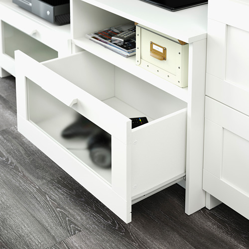 BRIMNES/BURHULT - TV storage combination, white | IKEA Hong Kong and Macau - PE609341_S4