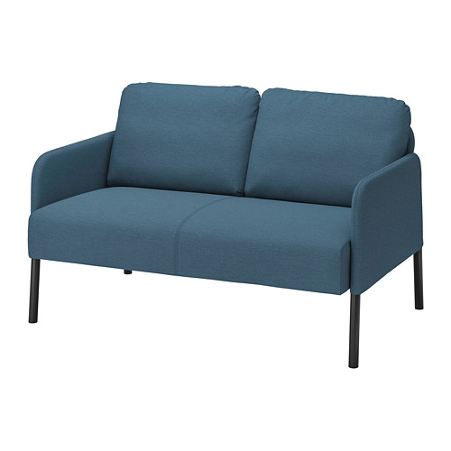 GLOSTAD - 2-seat sofa, Knisa medium blue   IKEA Hong Kong and Macau - PE800740_S4