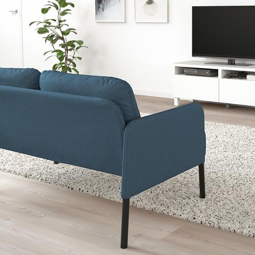GLOSTAD - 2-seat sofa, Knisa medium blue   IKEA Hong Kong and Macau - PE800741_S4