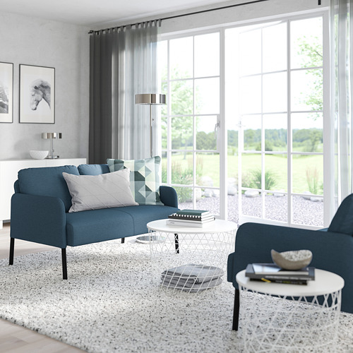 GLOSTAD - 2-seat sofa, Knisa medium blue   IKEA Hong Kong and Macau - PE800742_S4