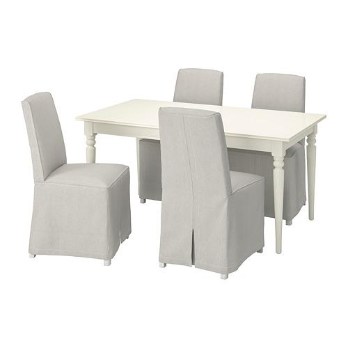 INGATORP/BERGMUND - 一檯四椅, 白色/Kolboda 米色/深灰色   IKEA 香港及澳門 - PE800818_S4