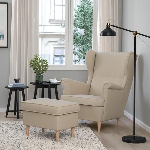 STRANDMON - 扶手椅, Kelinge 米黃色 | IKEA 香港及澳門 - PE800822_S4