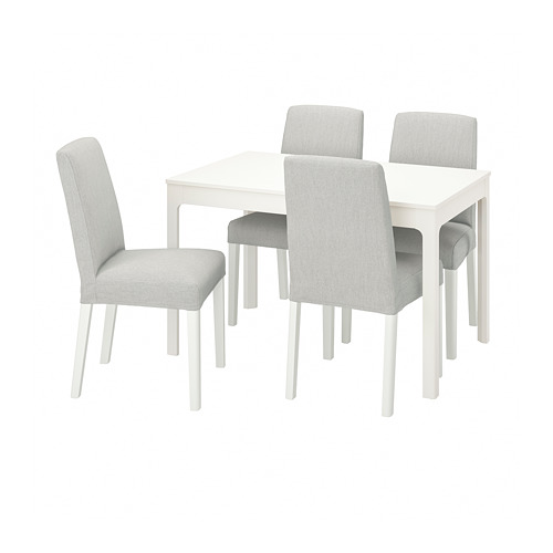 BERGMUND/EKEDALEN table and 4 chairs