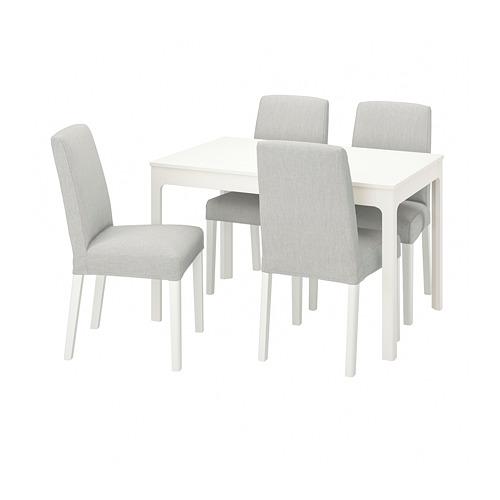 BERGMUND/EKEDALEN - table and 4 chairs, white/Orrsta light grey/white | IKEA Hong Kong and Macau - PE800836_S4