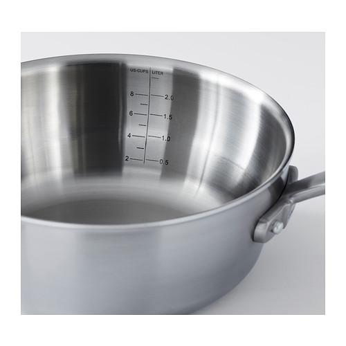 SENSUELL - saucepan with lid 2.4L, stainless steel/grey | IKEA Hong Kong and Macau - PE389742_S4