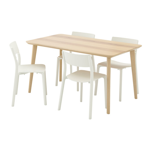 JANINGE/LISABO - table and 4 chairs, ash veneer/white | IKEA Hong Kong and Macau - PE535866_S4