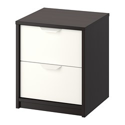 ASKVOLL - chest of 2 drawers, black-brown/white | IKEA Hong Kong and Macau - PE706665_S3