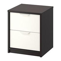 ASKVOLL - 兩層抽屜櫃, 棕黑色/白色 | IKEA 香港及澳門 - PE706665_S3