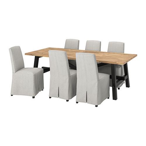 BERGMUND/SKOGSTA - 一檯六椅, acacia/Kolboda beige/dark grey | IKEA 香港及澳門 - PE800884_S4