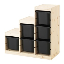 TROFAST - storage combination, light white stained pine/black | IKEA Hong Kong and Macau - PE547503_S3