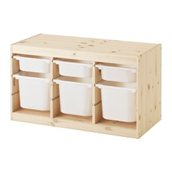 TROFAST - storage combination with boxes, light white stained pine/white | IKEA Hong Kong and Macau - PE547497_S3