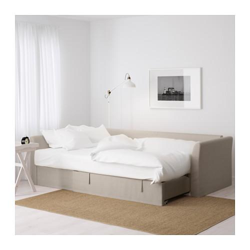 HOLMSUND - 角位梳化床(可貯物), nordvalla 米黃色 | IKEA 香港及澳門 - PE600211_S4