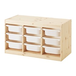 TROFAST - storage combination with boxes, light white stained pine/white | IKEA Hong Kong and Macau - PE547495_S3