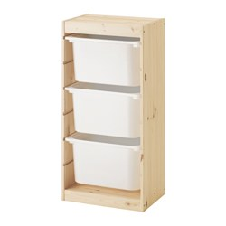 TROFAST - storage combination with boxes, light white stained pine/white | IKEA Hong Kong and Macau - PE547494_S3